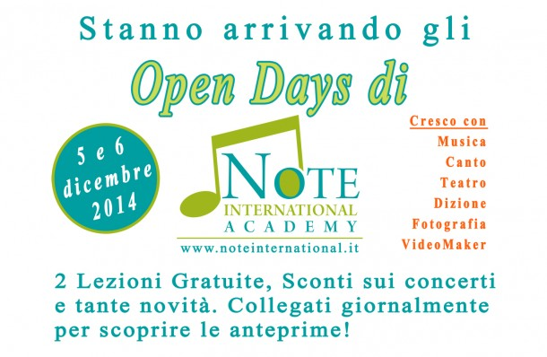 Open Days Note
