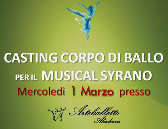 Casting CORPO DI BALLO 1 Marzo 2017 – Note International Performing Arts Company